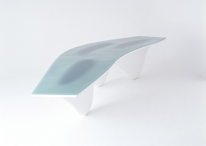3d Zaha Hadid LIMITED EDITION AQUA TABLE Photography by David Sykes LR