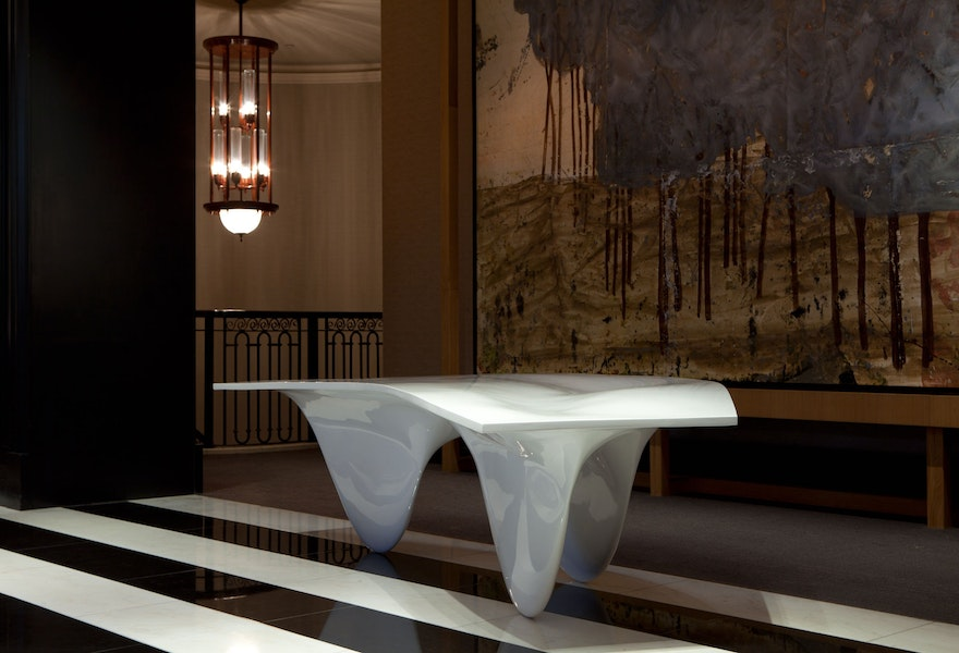 AQUA TABLE Zaha Hadid 08 Frieze Week Establishedand Sons In Residence at Rosewood London c James Champion 72dpi