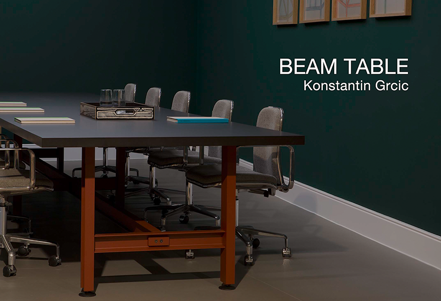 BEAM TABLE Konstantin Grcic c2019 Establishedand Sons c Unique Media full