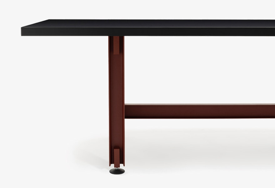 BEAM TABLE Konstantin Grcic Grey background