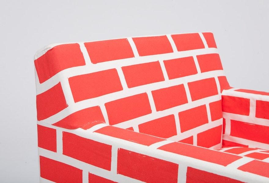 Bricks Mortar Red Chair 2575