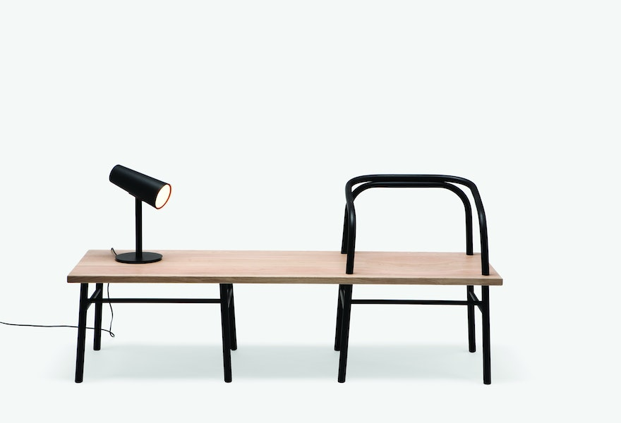 Industrial Facility Sam Hetch Table Bench Chair bench black C Peter Guenzel Established Sons MR