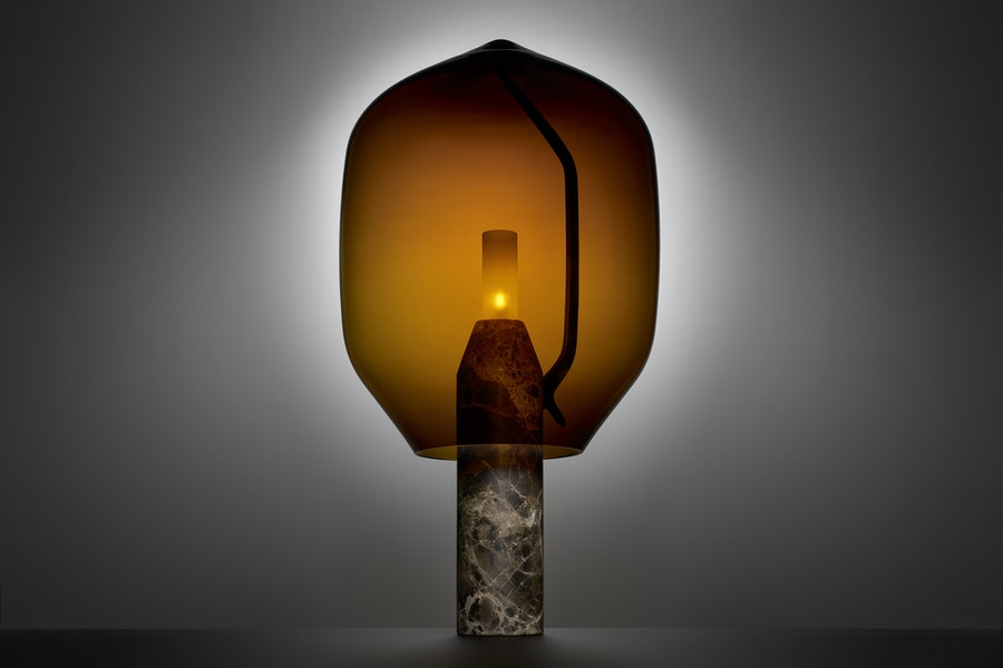 LIGHTHOUSE T1 Dark Emperador amber R and E Bouroullec c2019 Establishedand Sons c Nick Rochowski Studio Photography 01 B 300dpi