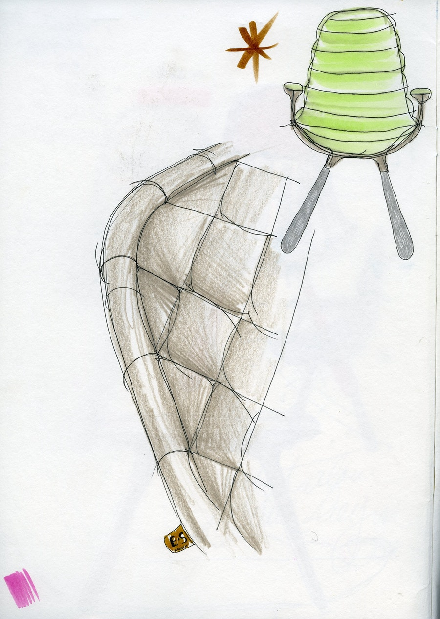 Page 171 406 Tudor Chair Sketch