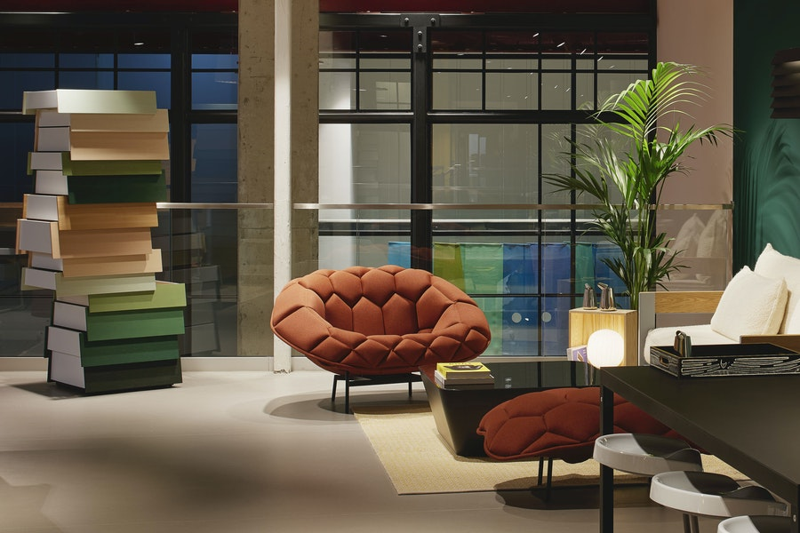 QUILT L1280 armchair Crevin Moss CAT1 R and E Bouroullec c2009 Establishedand Sons c James Harris Harth UK 01 300dpi