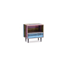 WRONGWOODS L585 night table pink with blue 1060 R Woods and S Wrong c2007 Establishedand Sons c Peter Guenzel NEW WB 72dpi