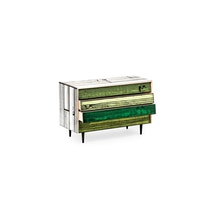 WRONGWOODS chest of drawers white with green R Woods and S Wrong c2007 Establishedand Sons c Peter Guenzel NEW WB 72dpi