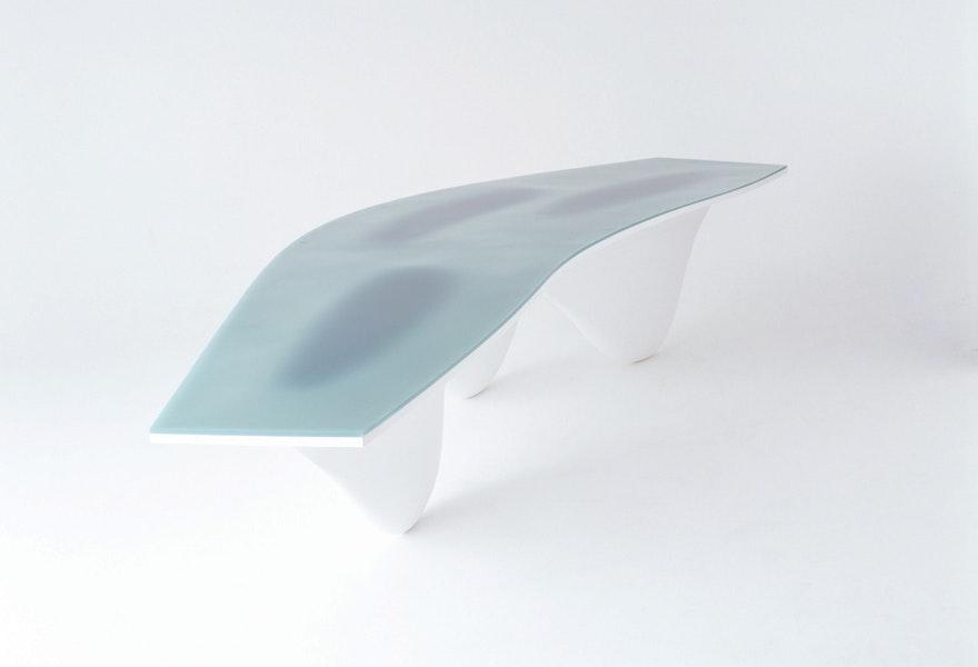 Zaha Hadid Turquoise top AQUA TABLE